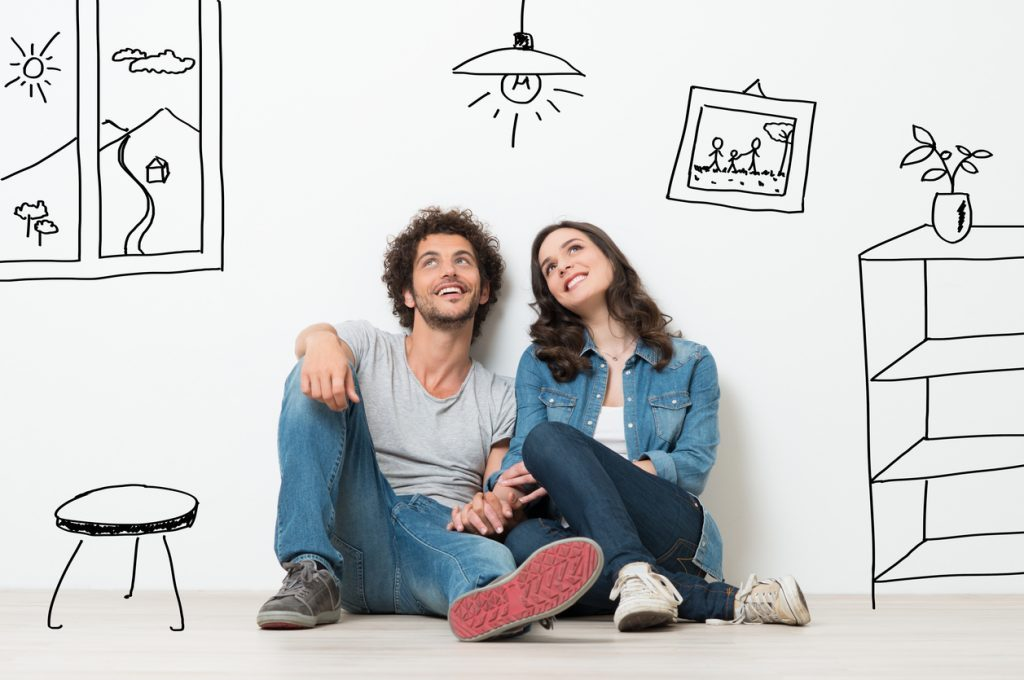 young couple first home